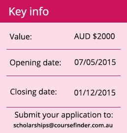 CourseFinder scholarship key details
